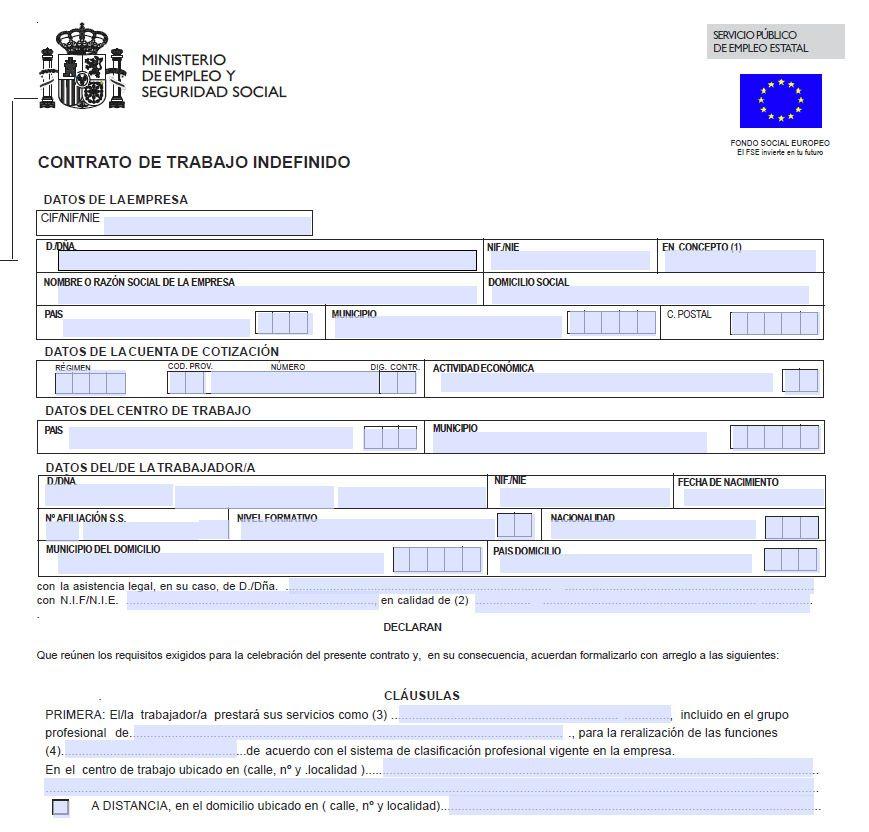 Actividades Tema 3 De Fol Modalidades Del Contrato De Trabajo Formación Y Orientación Laboral En Tiempos Modernos