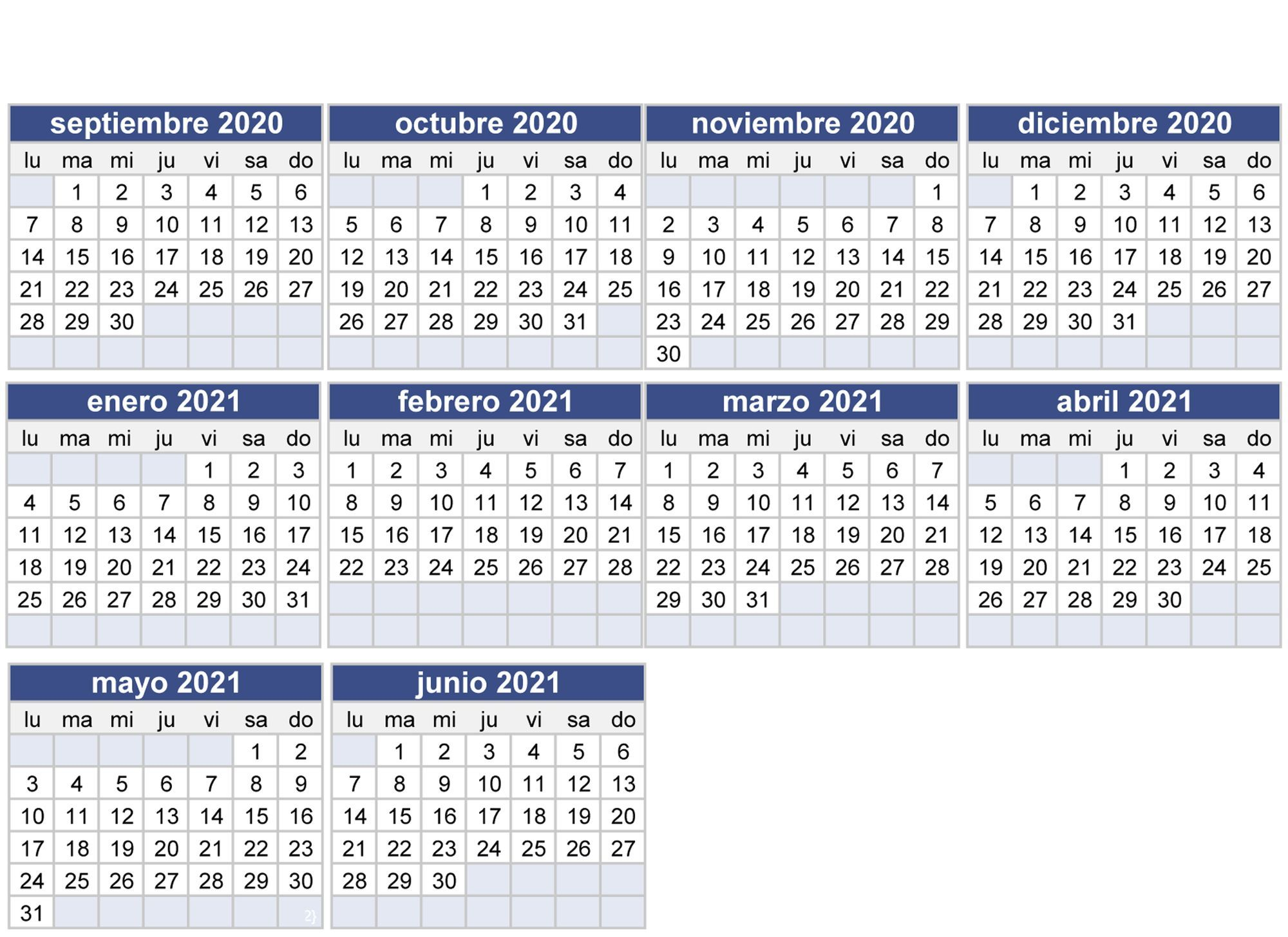 Calendario escolar 2020 2021 en Sevilla: fechas del inicio y fin