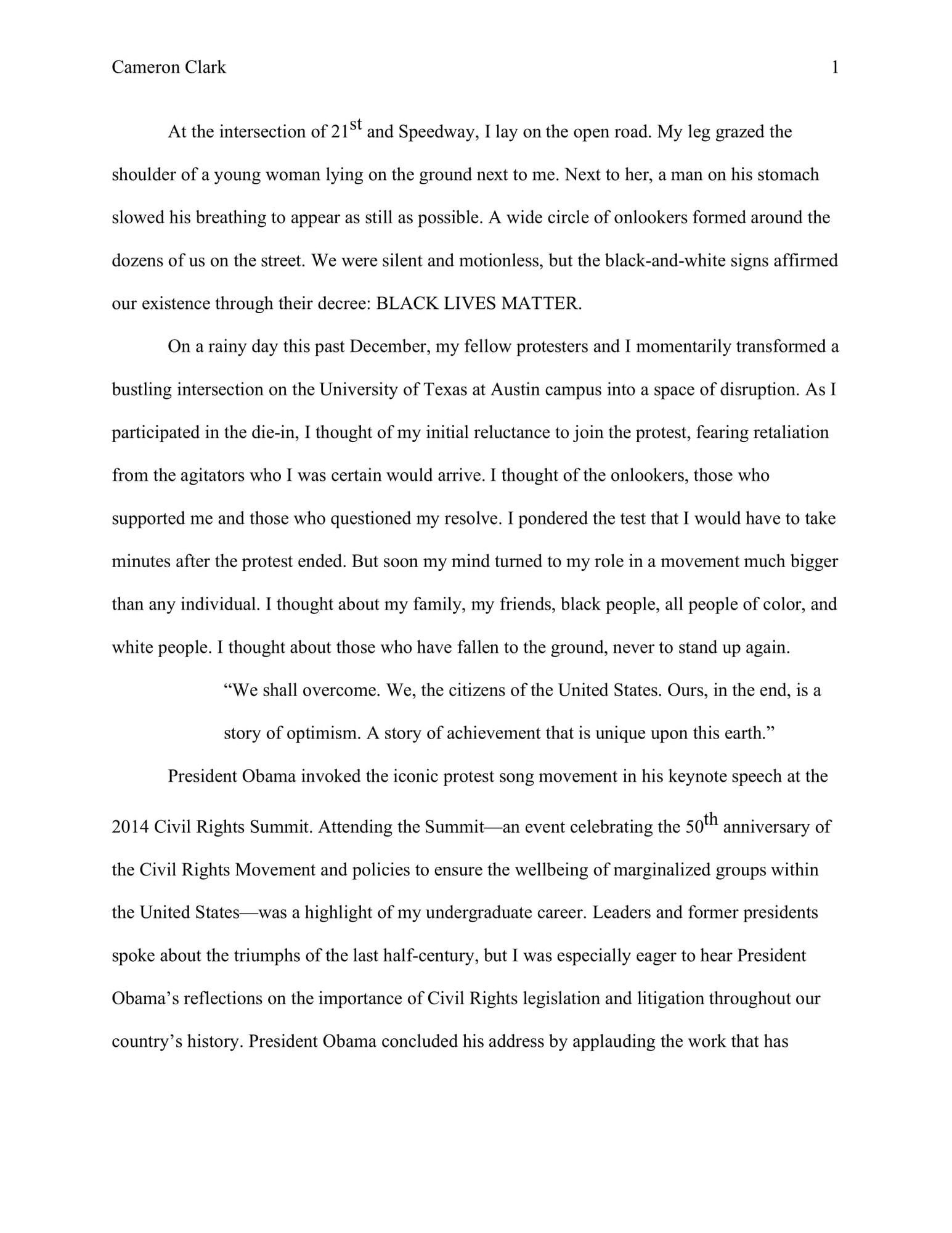Law School Admissions Essay